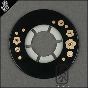 검도용품/코등이받침/일제실리콘 뭉개벚꽃(검정)