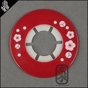 검도용품/코등이받침/일제실리콘 뭉개벚꽃(빨강)