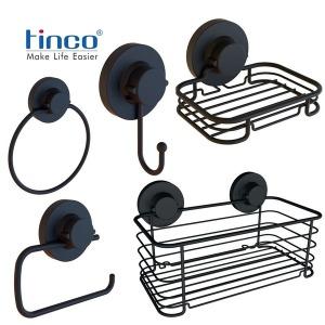 틴코 흡착식 스텐레스 욕실용품 블랙