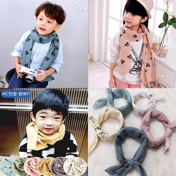 2장1세트 사계절 패션선물 아동 유아 스카프 목도리
