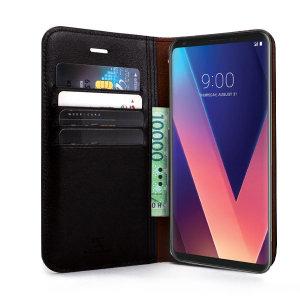 재클린 LG V30 플립커버 가죽/다이어리/지갑 케이스