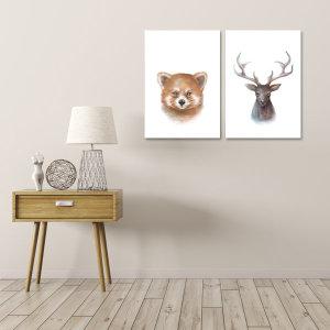 북유럽 인테리어 포스터 1+1+1+1 가을/식물/여행/동물