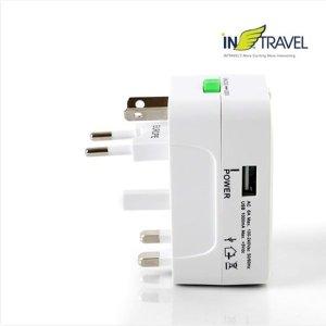 해외여행 멀티 USB 아답터 어댑터 판촉 선물 사은품