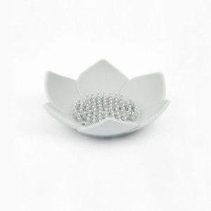 연꽃 실리콘 비누받침 / 그레이 (2개)