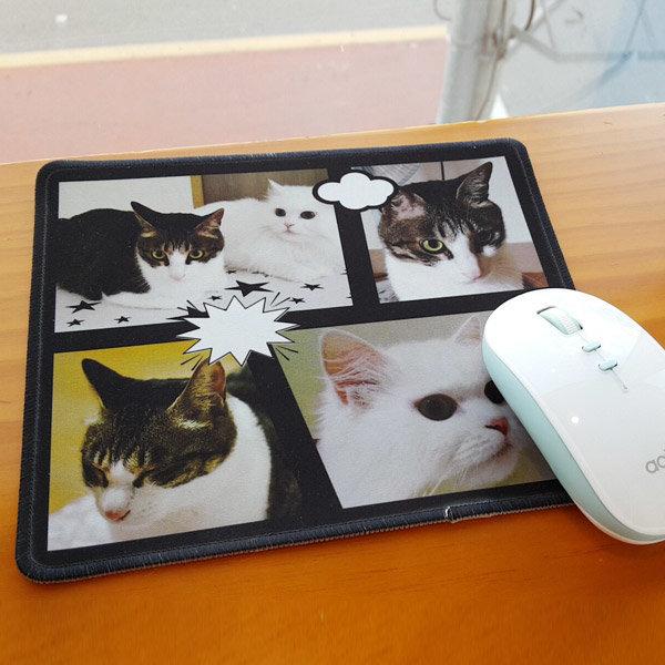 주문제작 마우스패드 포토 커플 사진 DIY 선물 이니셜