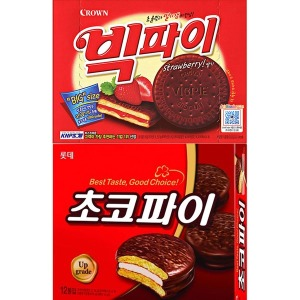 롯데 초코파이420g/크라운 빅파이/마가렛트/몽쉘 과자