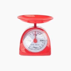키친스케일 주방저울 2kg / 레드