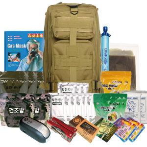 지진용/전쟁용/생존배낭세트/비상용품/방독면/가방