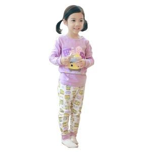 타요-1 캐릭터 아동내복 퍼플 후라이스 순면100