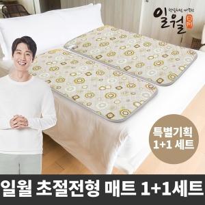 일월 초절전 온열매트 70W-싱글+싱글형/1+1 전기매트