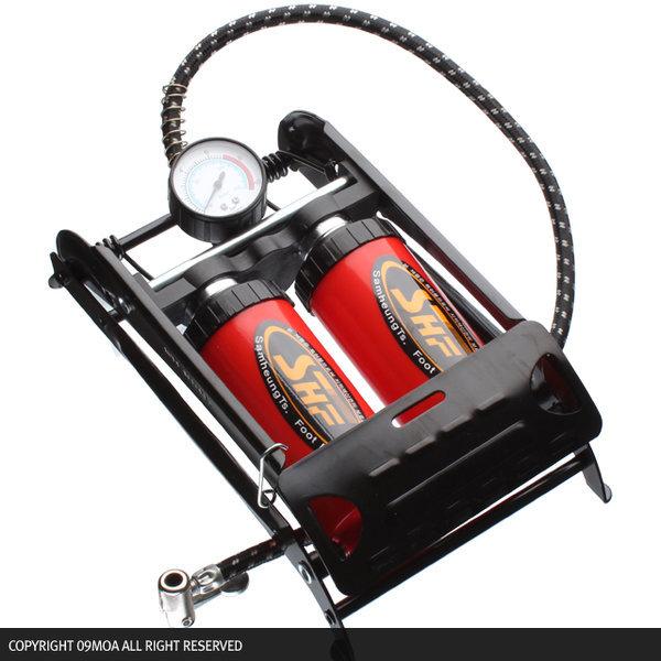 (09모아)국산쌍발펌프 자전거펌프 에어펌프자전거용품