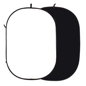 크로마키 양면 배경천 - 화이트/블랙