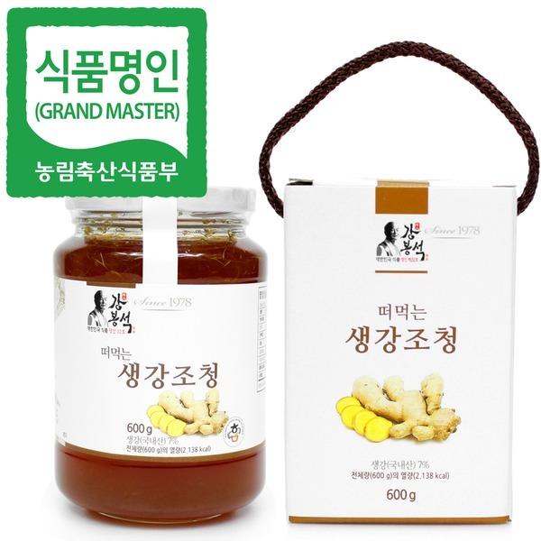 명인 생강청 600g/생강조청 생강즙 생강차/조청 물엿