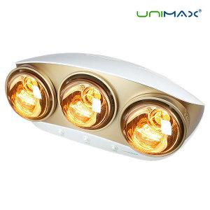 유니맥스 1초 발열 욕실난방기/욕실전기히터 골드램프 3구
