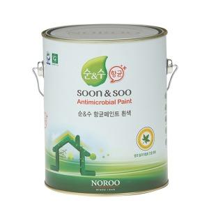 노루 순앤수 항균페인트 4L 세균 곰팡이방지 친환경