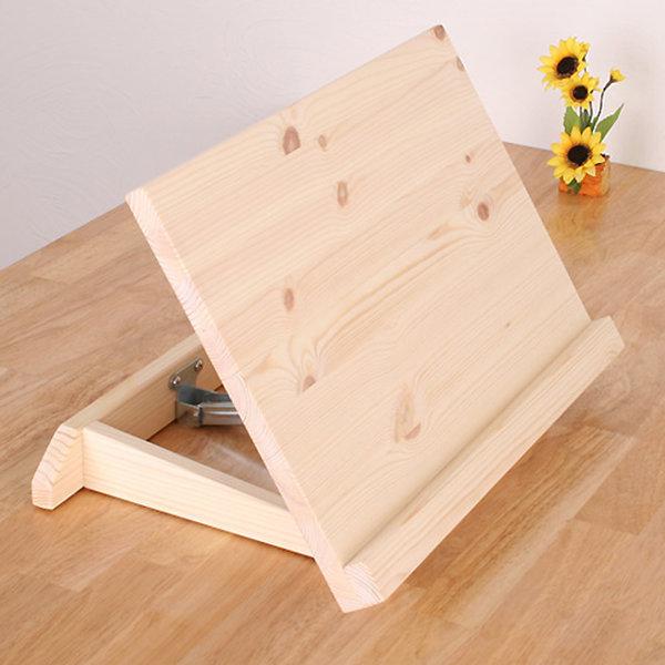 각도조절 원목보조책상 소나무 독서대 솔이홈