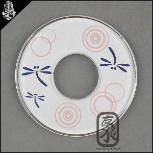 검도용품/코등이/일제화장 잠자리동그라미(흰색)