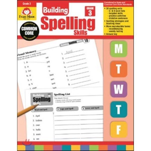 Building Spelling Skills : Grade 3  Evan-Moor  Jo Ellen Moore