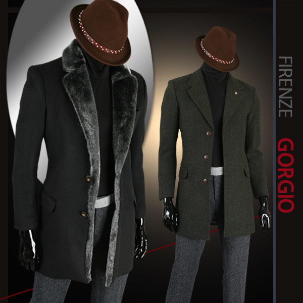 미우치아 F/W 가을겨울 모직코트 남성코트 남자코트