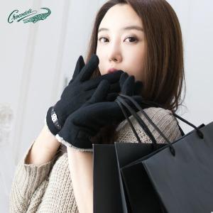 크로커다일 여성 남성 터치 모 장갑 가죽/겨울/커플