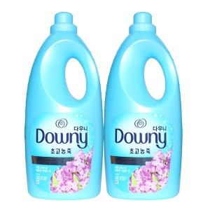 다우니 블루 2L 레몬그라스라일락향 2개 섬유유연제