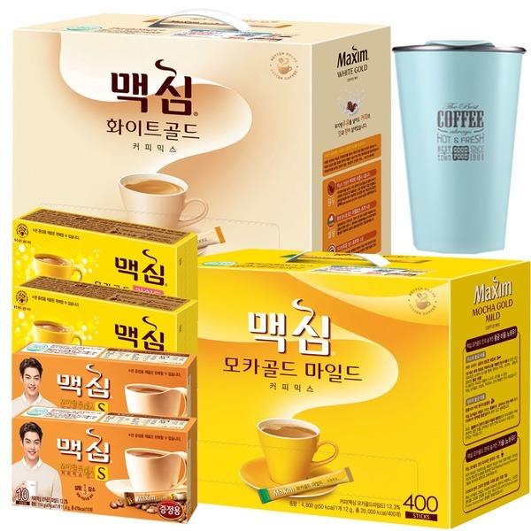 맥심모카골드 커피믹스 400T+사은품/화이트