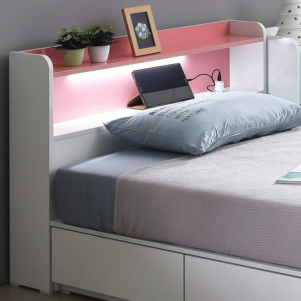 LED 침대 헤드보드 슈퍼싱글/LED 220V 콘센트 매립