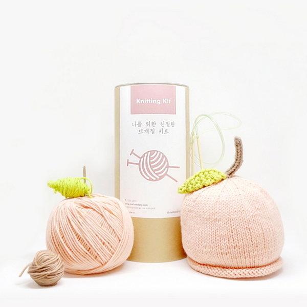 (멜로우)니팅키트- 아기 복숭아 모자