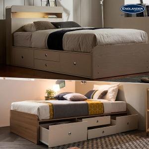 단하루초특가 아이비 책장형/LED/4단 빅수납 침대모음