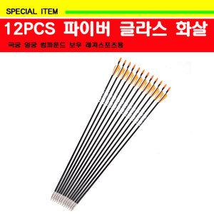 12PCS 파이버 글라스 화살/양궁/국궁/컴파운드 보우
