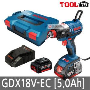 보쉬 GDX18V-EC 충전 임팩트드릴 5.0AH 배터리2개