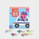 핑크퐁 아기퍼즐 탈것 (4조각~12조각 10장) 말 배울 때 시작하는 첫 퍼즐