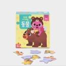 핑크퐁 아기퍼즐 동물 (4조각~12조각 10장) 말 배울 때 시작하는 첫 퍼즐