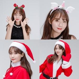 (루돌프머리띠산타모자모음)크리스마스 산타 파티용품