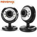 NOVOMAX 화상카메라 웹캠 6개LED 1.3메가픽셀 NC-150
