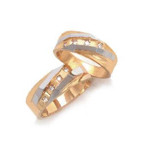 14K 하이스 콤비 커플링 반지