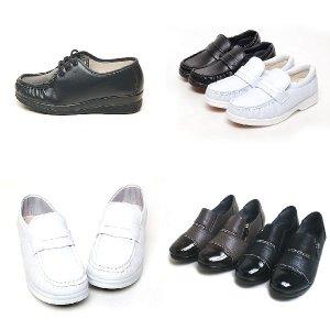 효도화 편한신발 간호화 백색 신발 여자 편리화 반도