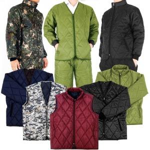 깔깔이 세트 패딩 점퍼 조끼 바지 겨울 방한복 작업복