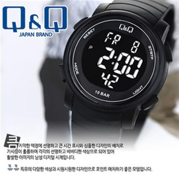 정품 큐앤큐시계 M122J-001Y 패션시계 디지털시계