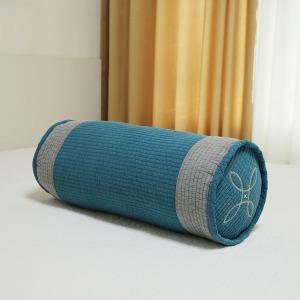 줄누빔 피그먼트 원형 베개 커버 순면 국내 제작