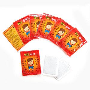 미니 붙이는핫팩 100매 미니핫팩/안전인증/허리/발핫팩