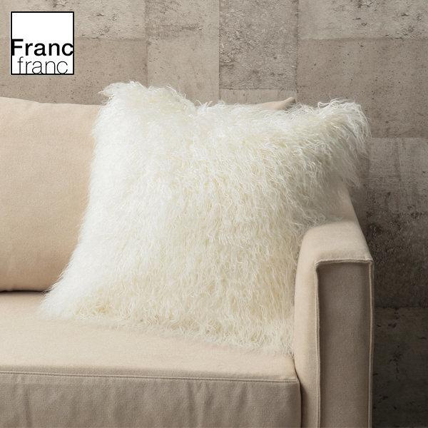 프랑프랑 /Francfranc 리치 쿠션 커버 화이트