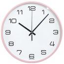 파스텔 핑크 무소음벽시계 26cm 인테리어벽시계
