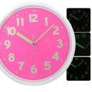 무소음 야광벽시계 핑크 31cm 야광시계 벽걸이시계