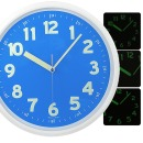 무소음 야광벽시계 블루 31cm 야광시계 벽걸이시계