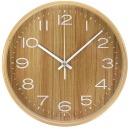 우드 화이트 무소음벽시계 25cm  원목벽시계