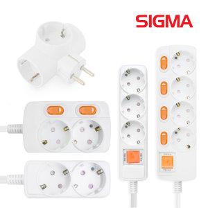 시그마 16A 멀티탭 안전접지 절전 콘센트 2 3 4 5 6구