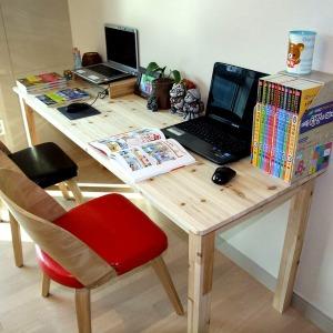 셀러킹 특가삼나무 원목책상 컴퓨터책상 테이블
