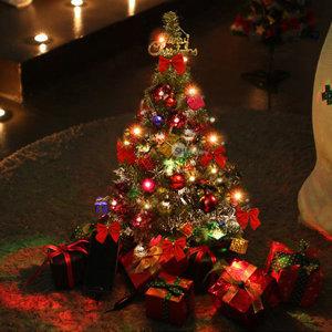 크리스마스 트리 풀세트 미니트리 60cm 녹색트리+전구