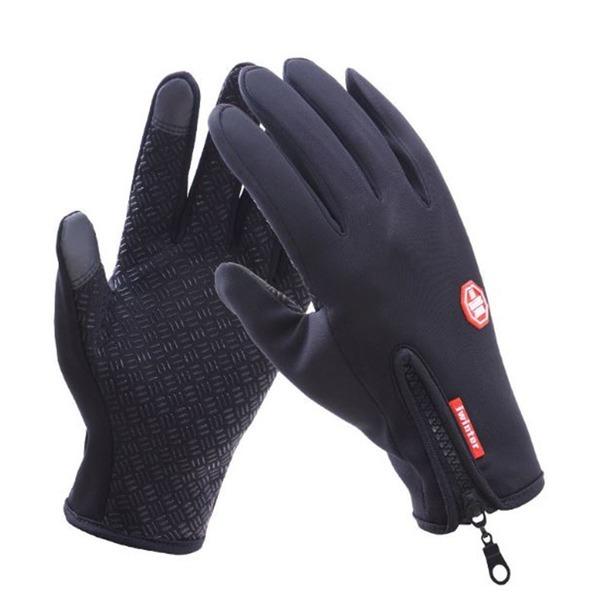 겨울 방한 장갑 방풍 기모 스포츠 등산 자전거 블랙